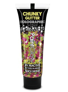 Tubo de Purpurina en Gel Holográfica Chunky UV - Rainbow Rave 13ml