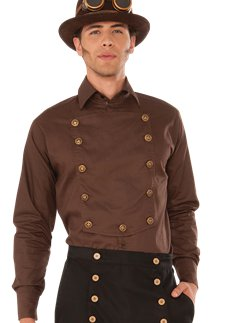 Camisa marrón Steampunk