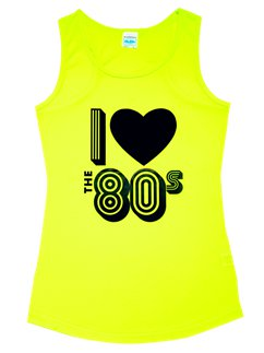 Camiseta sin mangas I Love the 80's