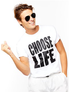 Camiseta con inscripción Choose Life