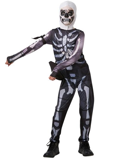 Disfraz Skull Trooper Fortnite - 9-10 Años