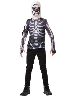 Fortnite Skull Trooper Kit- Disfraces Infantiles