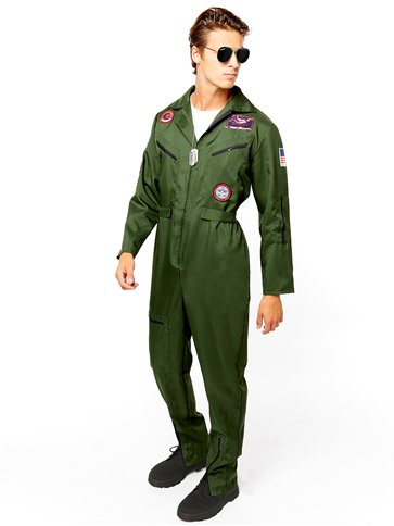 Disfraz Aviador Top Gun - Disfraces Adultos front