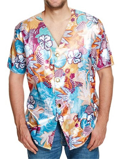 Camisa Hawaiana - Disfraces Adultos