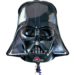 "Globo Superforma Casco de Darth Vader de Starwars-25"" metalizado"