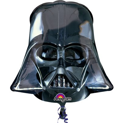 Globo Superforma Casco de Darth Vader Star wars - 63cm metalizado