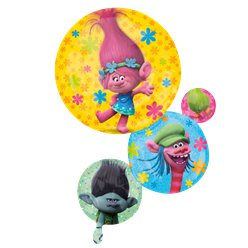 "Globo Superforma de Trolls-28"" papel metalizado"