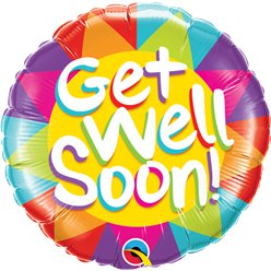 Globos Get Well Soon - Metalizado 45cm