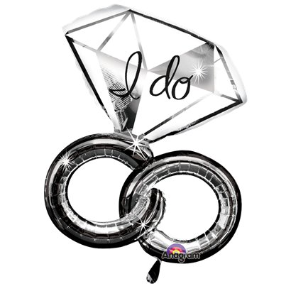 "Globo Superforma Anillo de Bodas I Do-30"" metalizado"