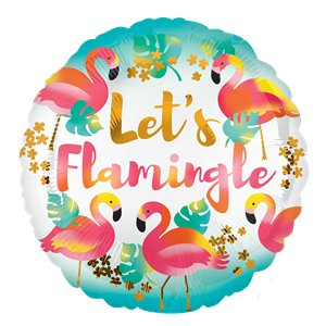 Globo Let's Flamingle - Metalizado 45cm