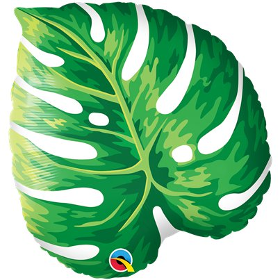 Globo superforma Hoja Tropical - 53cm - Papel de aluminio