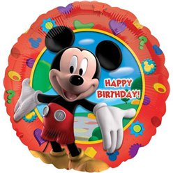 "Globo Happy Birthday Casa Club de Mickey Mouse- 18"" metalizado"