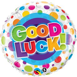 Globo Lunares Coloridos Good Luck - Metalizado 45cm