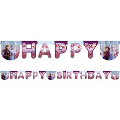 "Banner ""Feliz Cumpleaños"" (Happy Birthday) de Frozen 2 de Disney - 2m"