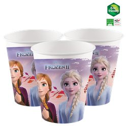 Vasos de papel compostables de Frozen - 200ml