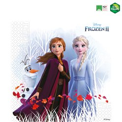 Servilletas compostables de Frozen 2 de Disney - 33cm