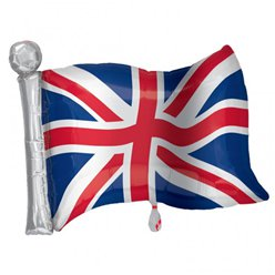 Globo superforma Bandera Inglesa Union Jack - Metalizado 68cm