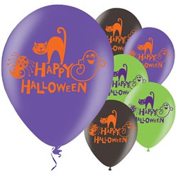 Globos Feliz Halloween - Latex 28cm