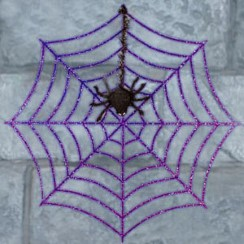 Telaraña brillante - Decoración de Halloween de 46 cm