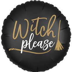 "Globos Brujas ""Witch Please"" Doble lado - Metalizado 45cm"