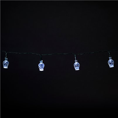 Mini Luces Led con forma de calavera - 1,2m
