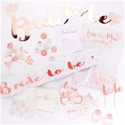 "Kit para Despedida de Soltera ""Bride to be"" (Futura Novia)"