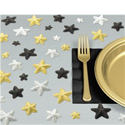 Confeti de Mesa Estrellas de Purpurina de Hollywood