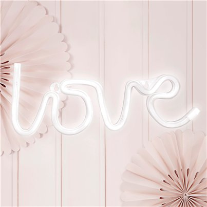 Luz LED Blanca Neón Love - 34.5cm