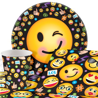 Pack de Fiesta Smiley - Pack AHORRO para 8