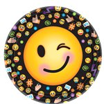 Platos Smiley - Platos de Papel de Fiesta 23cm