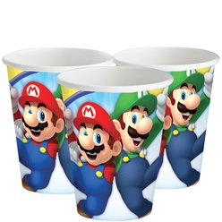 Vasos Super Mario-Vasos de papel de 266ml