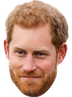 Máscara de Prince Harry