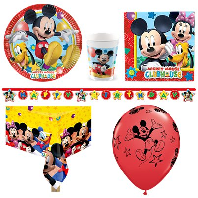 Pack de fiesta Mickey Mouse - Pack deluxe para 8 personas