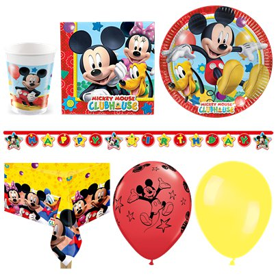 Pack de fiesta Mickey Mouse - Pack deluxe para 16 personas