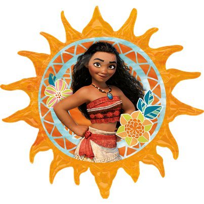 Globo superforma metalizado Moana Disney