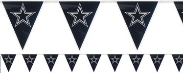 Banderines de plástico Dallas Cowboys NFL 3,6m