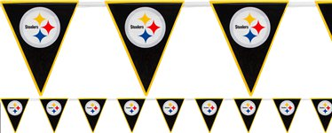 Banderines Plásticos Pittsburgh Steelers NFL 3,6m