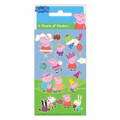 Hoja de stickers de Peppa Pig