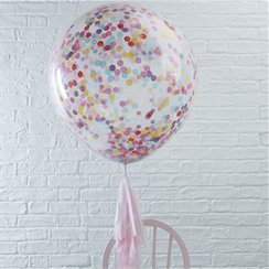 Globos con Confeti Multicolor Gigante Pick & Mix - Látex 91cm