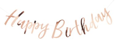 "Pick & Mix Rosa Dorado - Banner ""Happy Birthday"" 1,8m"