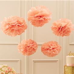 Pompones decorativos Rosa Pastel Perfection-33cm
