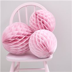 Balones de papel de panal rosas Princess Perfection-30cm