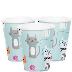 Purr-fect Party -Vasos de papel de 255ml