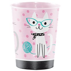 Taza Plástica Purr-fect Party para Dulces-473ml