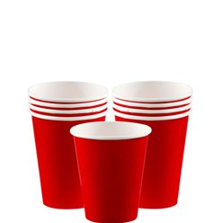Vasos de papel rojos - 266ml