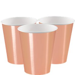Vasos para fiesta Rose Gold - Vasos de papel de 355ml