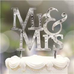 Topper Tarta Boda Mr & Mrs