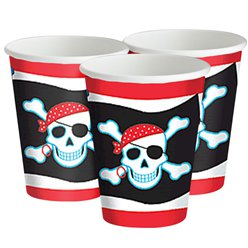 Vasos Piratas - Vasos de Cartón 266ml