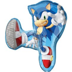 Globo Superforma Sonic The Hedgehog - Metalizado 83cm