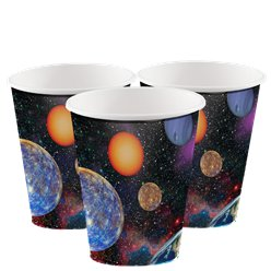 Vasos Space Blast - Vasos de cartón de 256ml